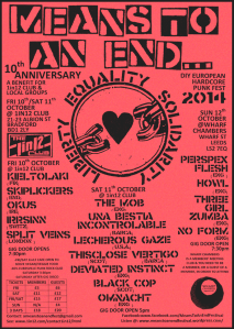 A MEANS TO AN END...FEST 10th Anniversary Poster
